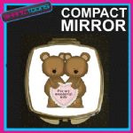 ANNIVERSARY BIRTHDAY CHRISTMAS COMPACT LADIES METAL HANDBAG GIFT MIRROR